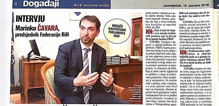 Foto: Nedžad Uglješa | Čavara, predsjednik Federacije BiH: Bošnjački nacionalizam u celofanu vodi nestanku BiH