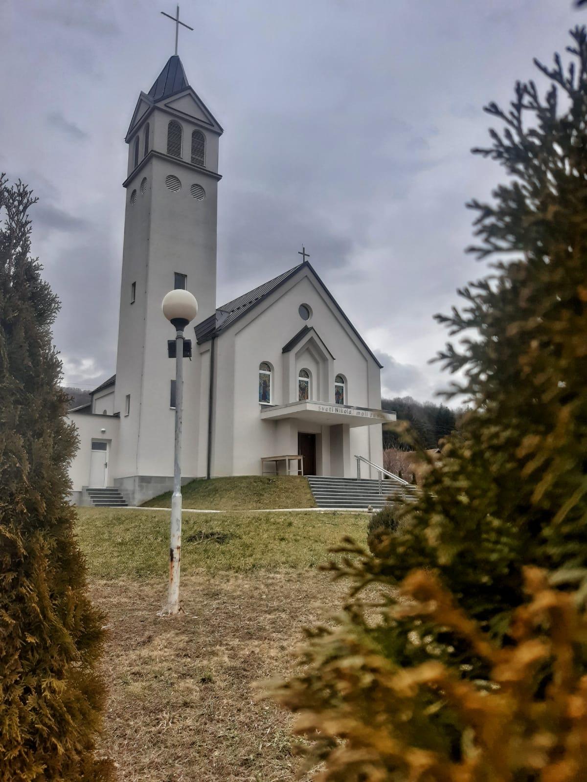 Sadašnji izgled crkve na Čepu, rekonstrukcija započela 23. srpnja 2018. godine.